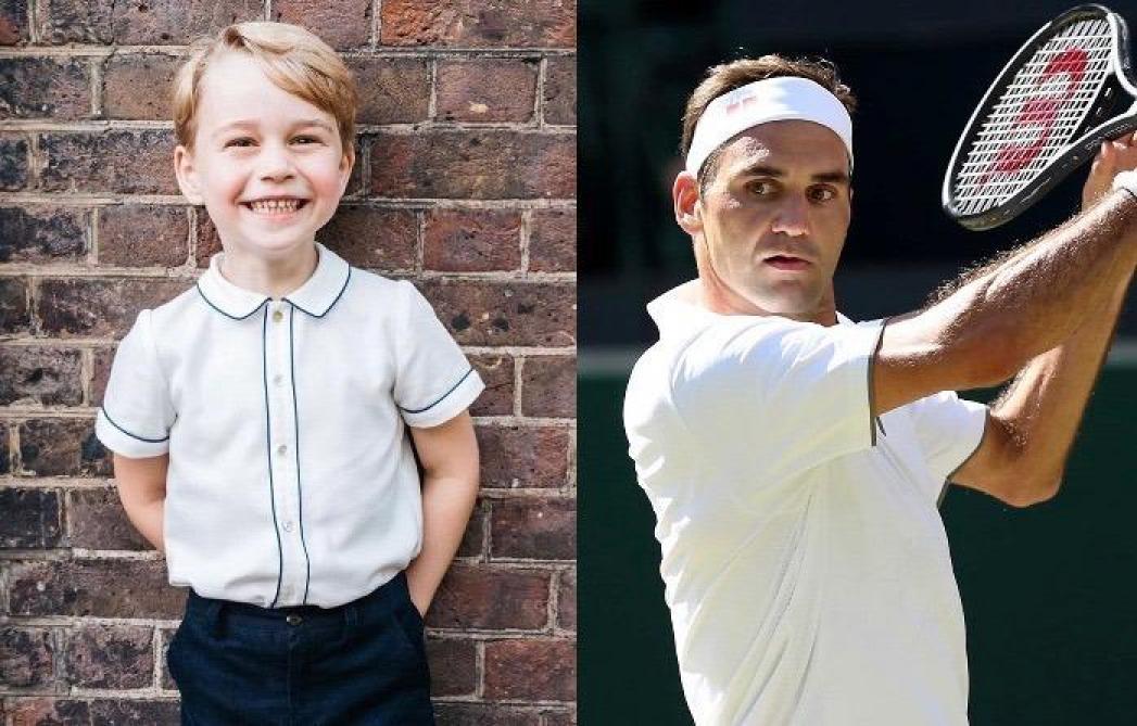 Le prince George échange ses premières balles avec Roger Federer