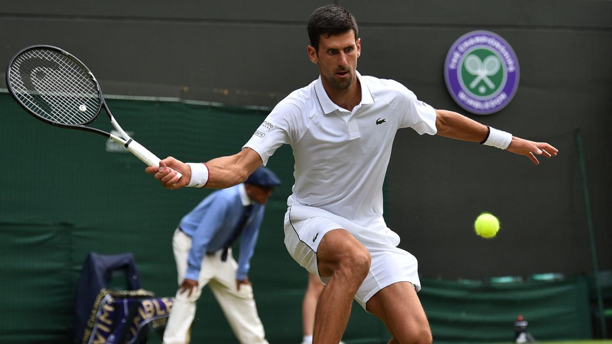 Wimbledon: Djokovic, bien trop fort pour Goffin, en demi-finale