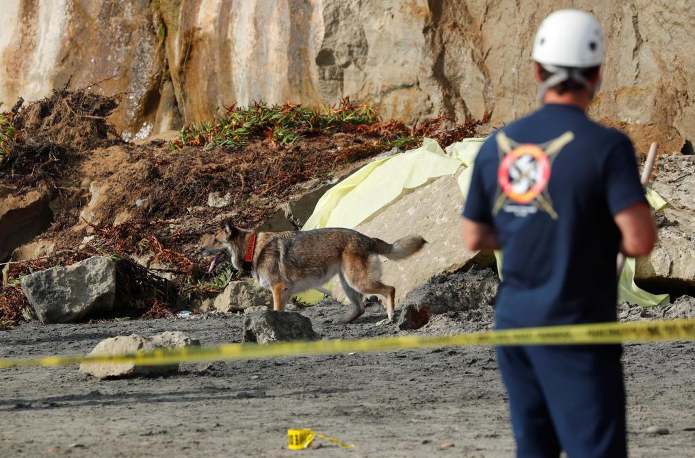L'éboulement d'une falaise sur une plage fait trois morts — Californie