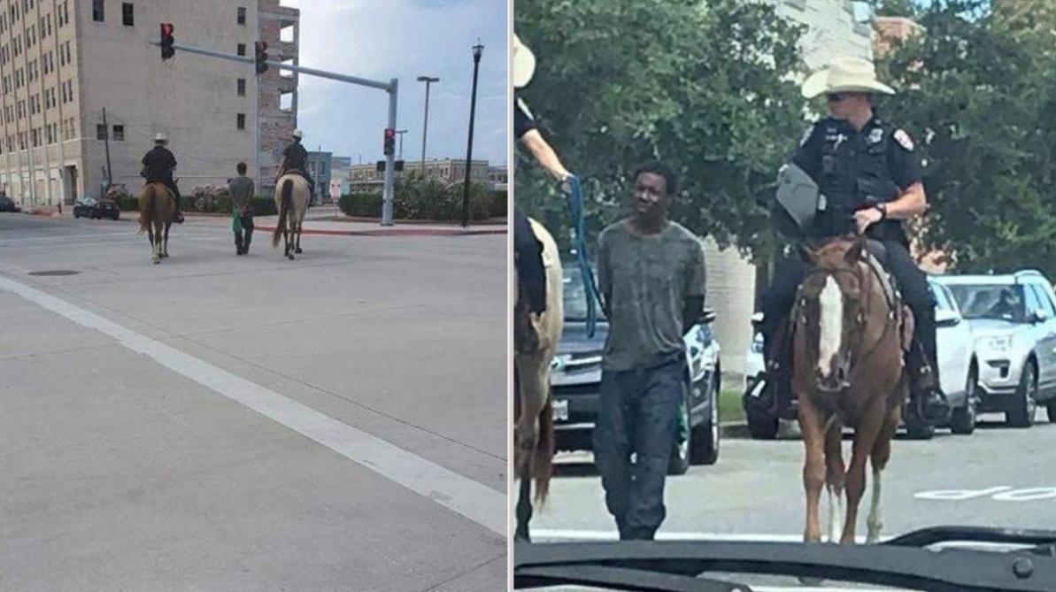 Un policier tient un Afro-américain par une corde aux Etats-Unis: le chef de la police s'excuse