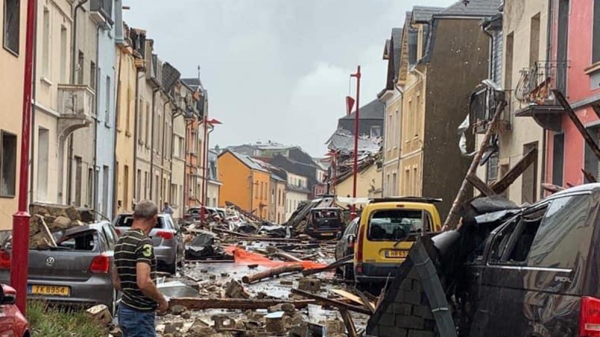 Une nouvelle vidéo de la tornade au Luxembourg diffusée