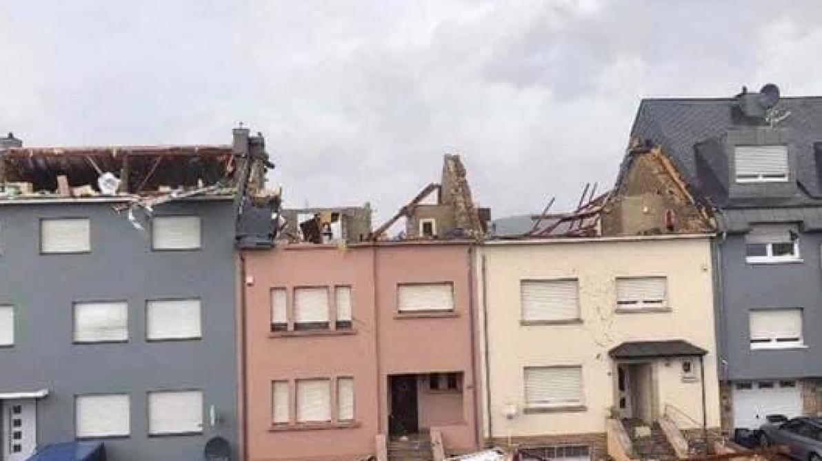 De nouvelles images de la tornade à la frontière franco-luxembourgeoise