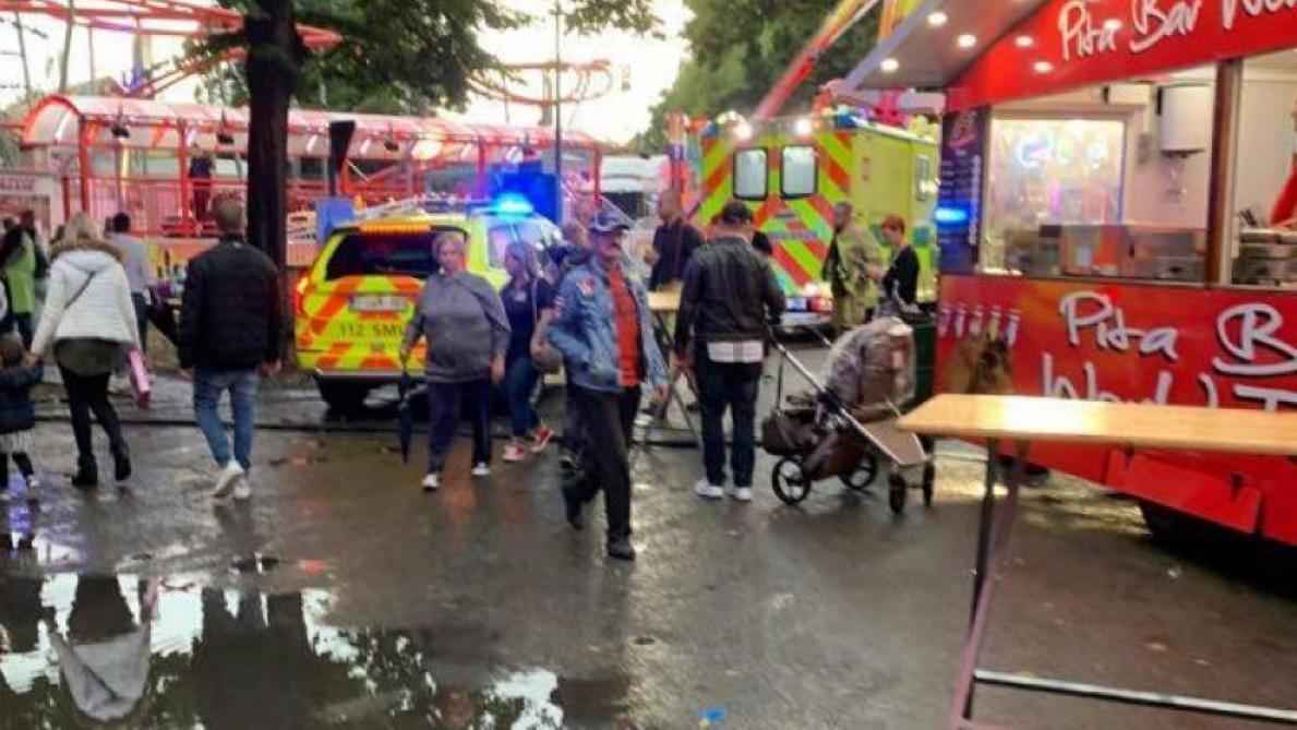 Foire de Huy: une personne blessée après être tombée d'une attraction