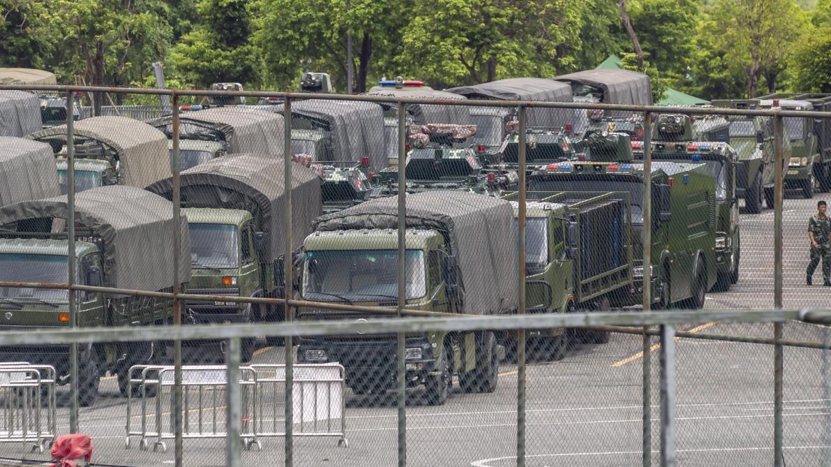 Hong Kong: pour Pékin, l'option militaire reste le «tout dernier recours»