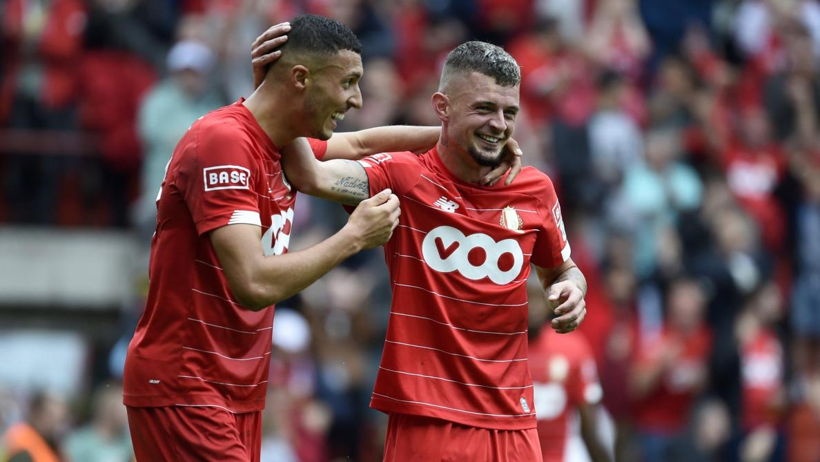 D1A: victoire facile du Standard sur Mouscron (4-1), les Rouches reviennent à un point du leader