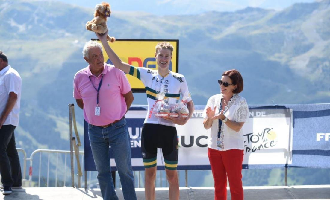 Tour de l'Avenir: Alexander Evans remporte la huitième étape, le Belge Mauri Vansevenant cède son maillot jaune (vidéo)