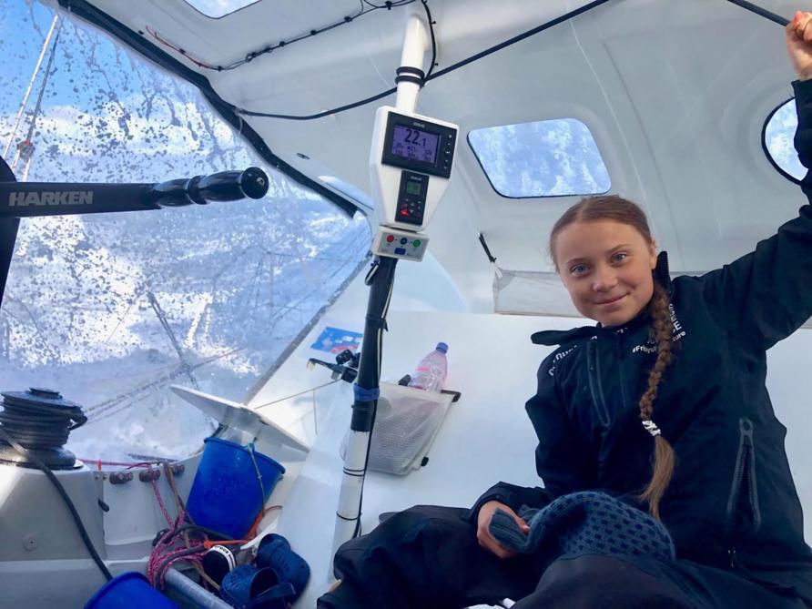 Climat: Greta Thunberg prévoit son arrivée mardi à New York à bord du voilier zéro carbone