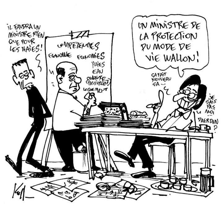 Le Kroll du jour sur les portefeuilles ministériels en Wallonie
