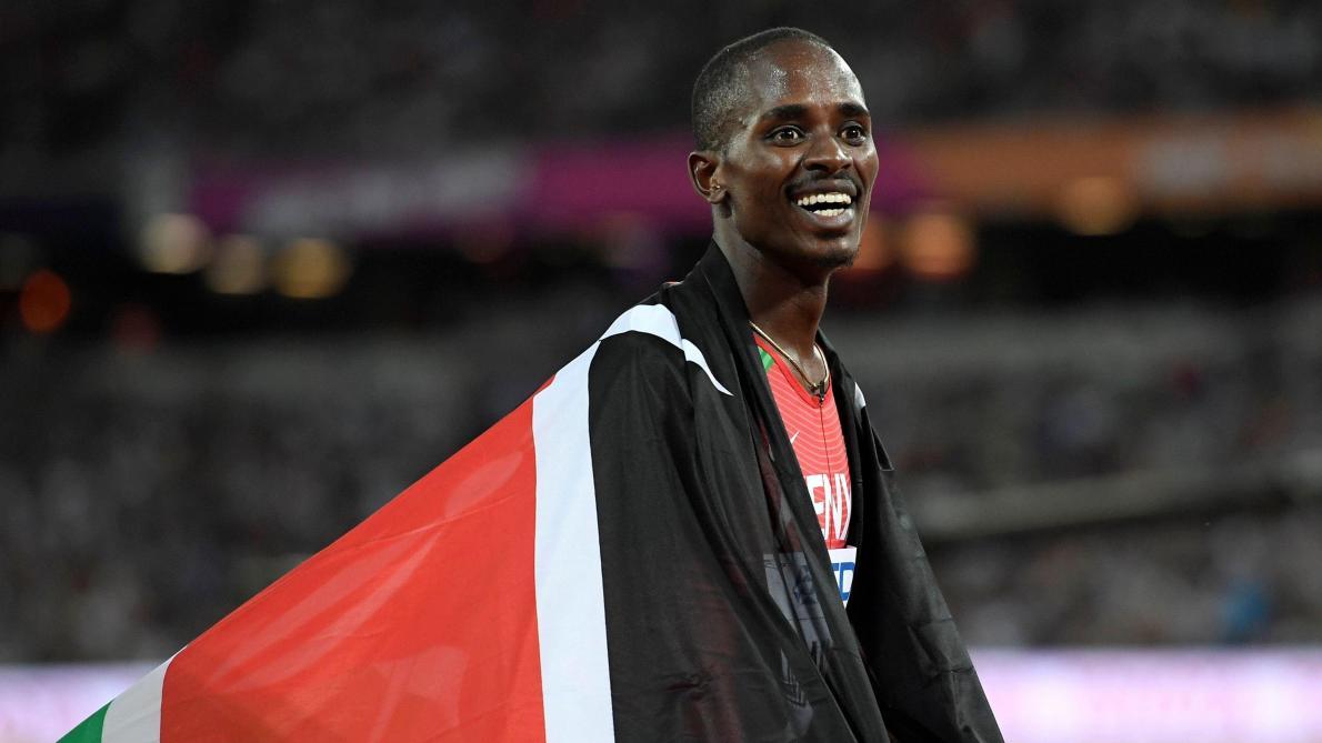 Mondiaux d'athlétisme: le Kényan Manangoi, champion du monde du 1.500 mètres, forfait