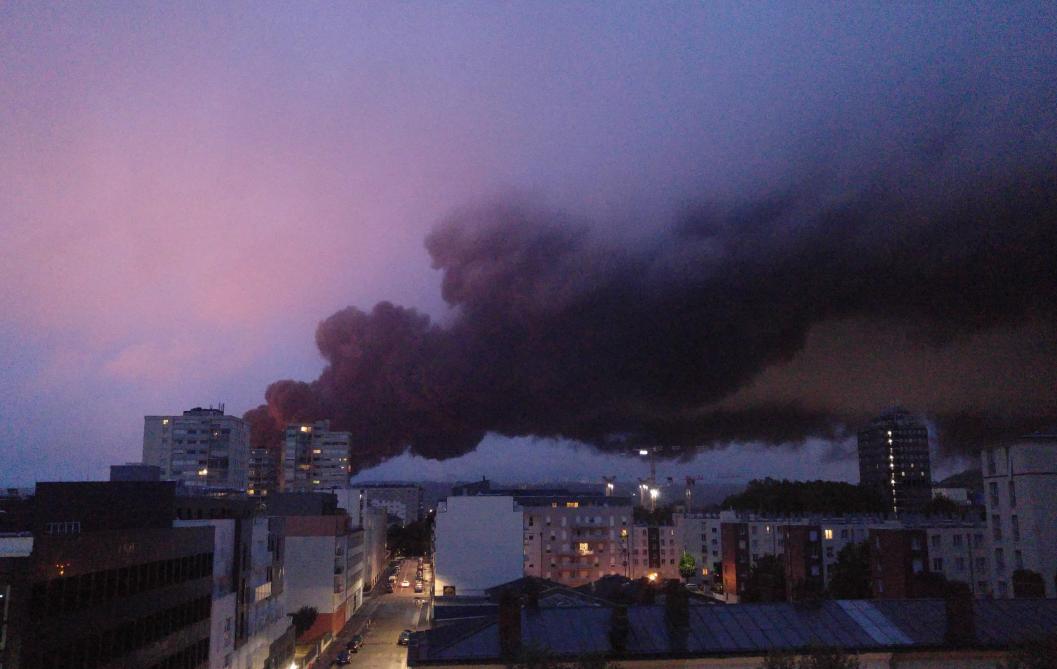 Incendie à Rouen : les niveaux de dioxines
