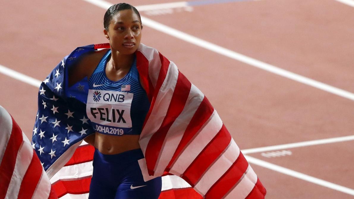Mondiaux d'athlétisme: une 12e médaille d'or pour Alysson Felix qui dépasse Usain Bolt