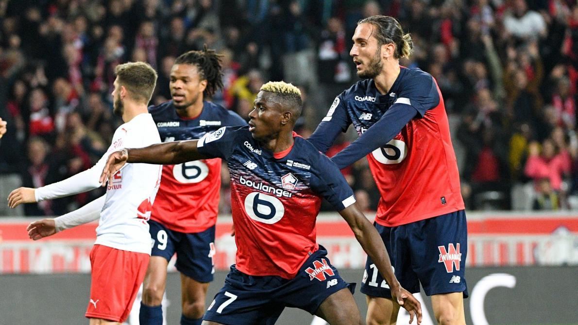 Ligue 1 Lille Accroche Par Nimes 2 2 Malgre Un Nouveau But De Victor Osimhen Le Soir