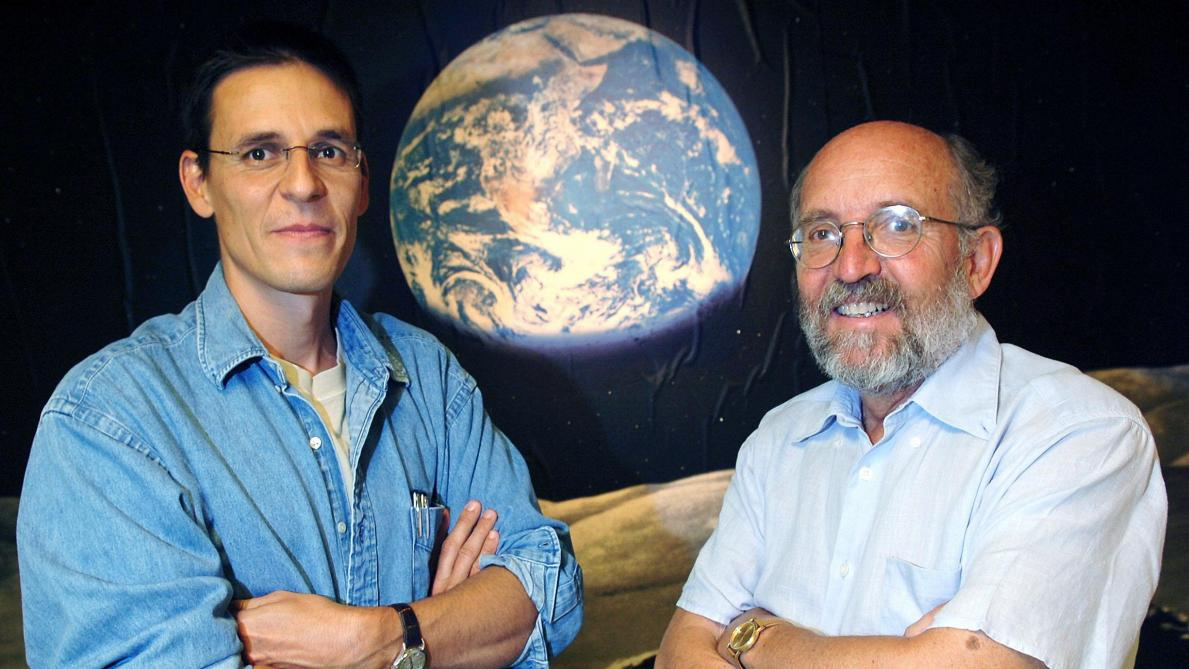 Les astrophysiciens genevois Michel Mayor et Didier Queloz