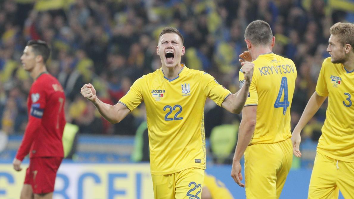 Face au Portugal, l'Ukraine assure sa qualification pour l'Euro 2020 malgré le 700e but de Cristiano Ronaldo