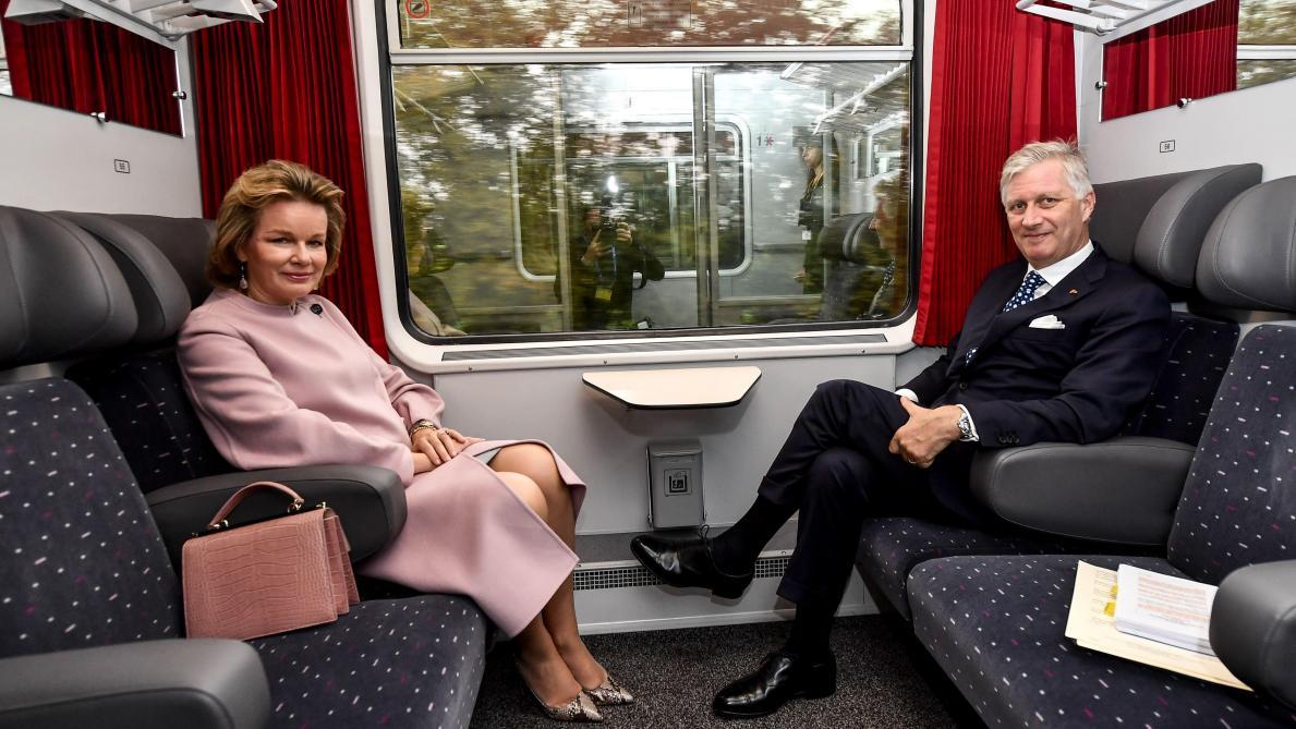 En train pour la visite royale au Luxembourg, mais pas tous