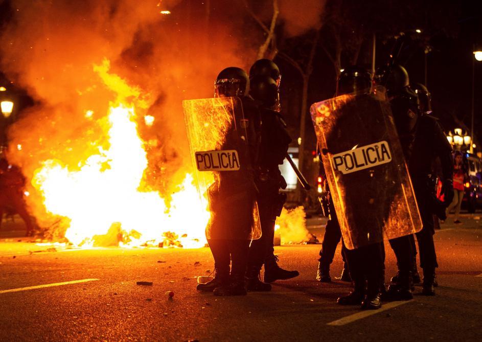 La mobilisation se poursuit après de nouvelles violences — Catalogne