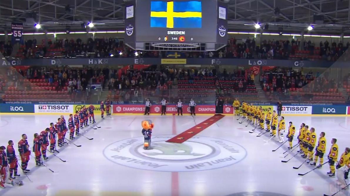 Les Français se trompent à nouveau d'hymne: une équipe suisse de hockey a eu droit à l'hymne suédois (vidéo)