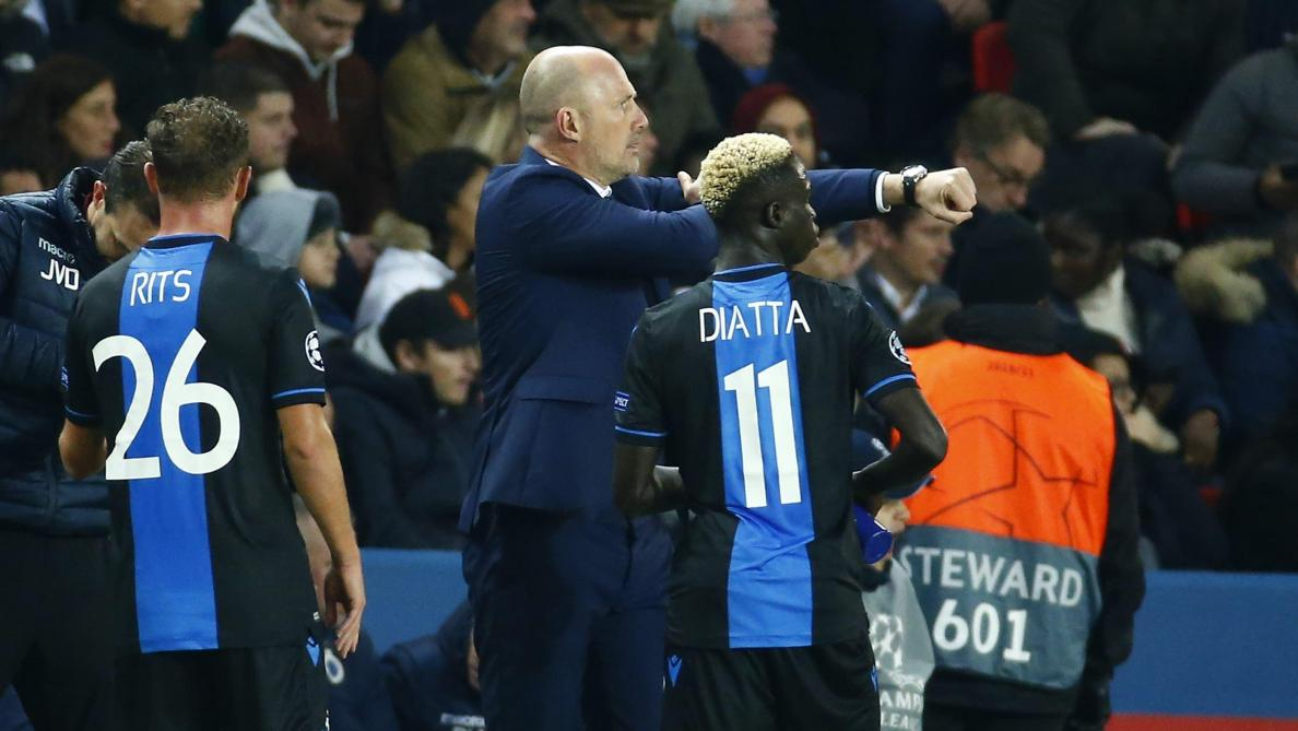Diagne sanctionné après avoir manqué le penalty face au PSG — Bruges
