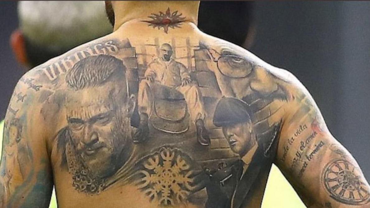 Peaky Blinders, Breaking Bad, Vikings: les incroyables tatouages de Nicolas Otamendi (photo)