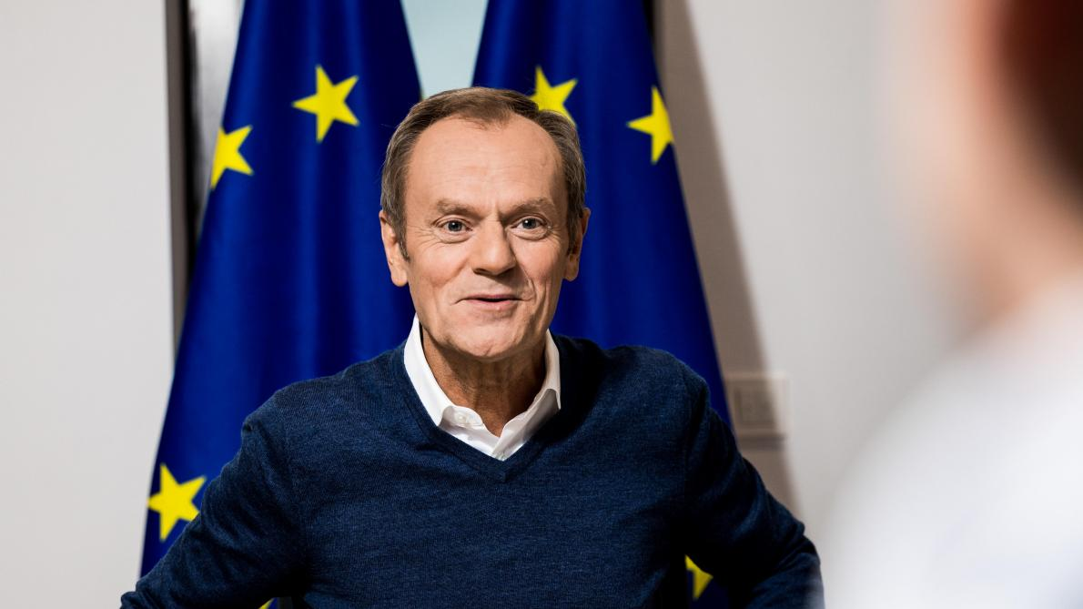 Donald Tusk a accordé une rare interview au « Soir ».