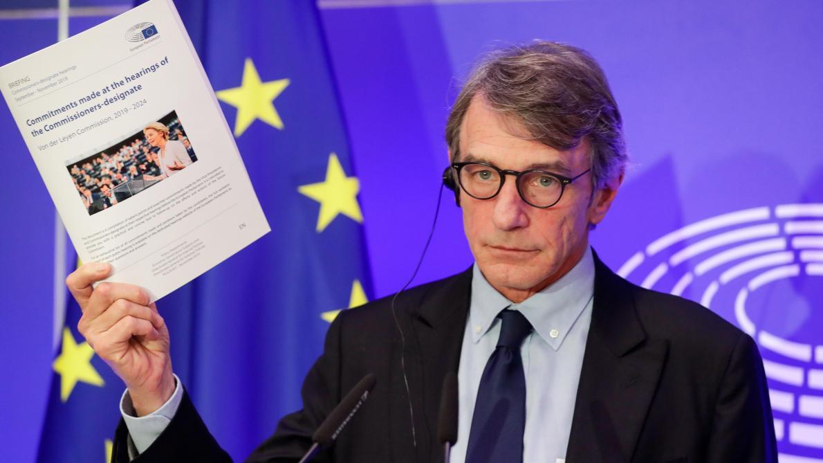 L'Italien David Sassoli président du Parlement européen a officiellement clos jeudi la procédure d'évaluattion des candidats commissaires: Le PE confirme son rôle, a-t-il insist