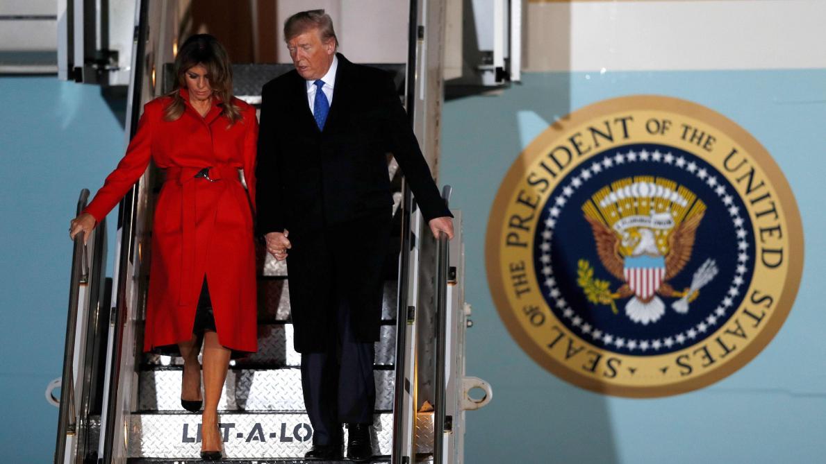Donald Trump arrive à Londres pour un sommet de l'Otan sous tension