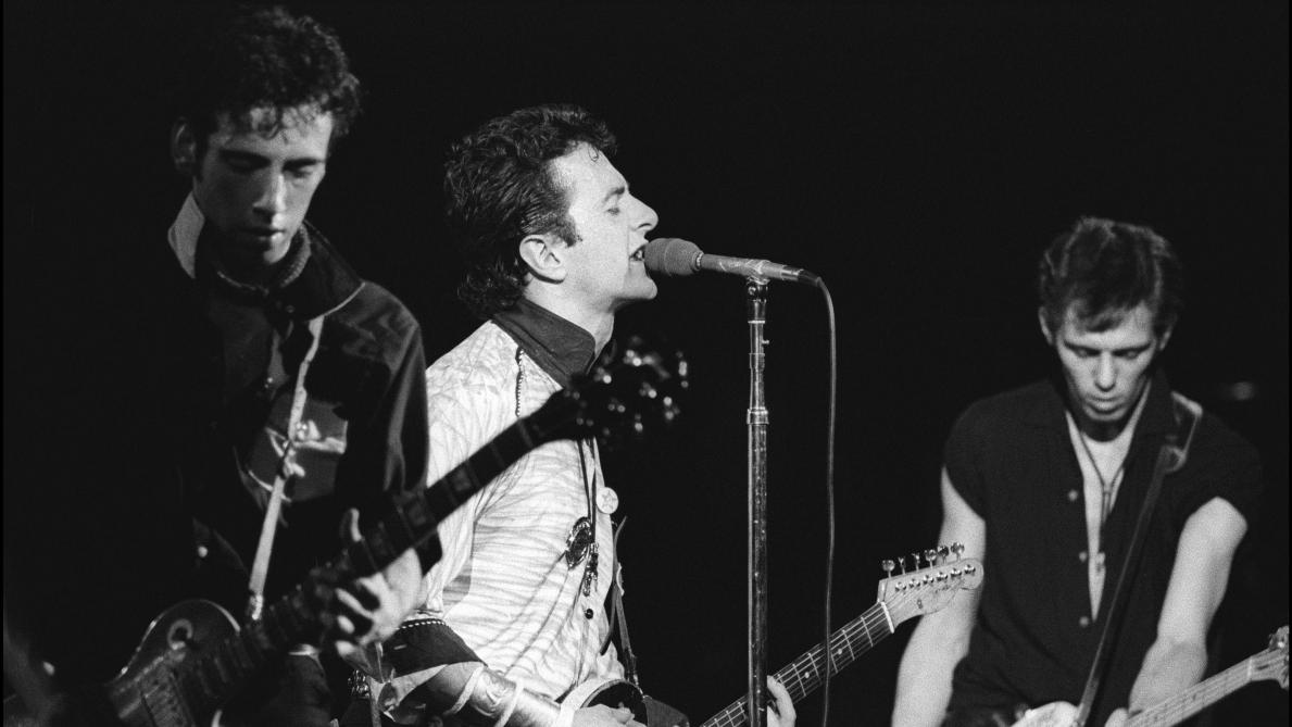 Mick Jones, Joe Strummer et Paul Simonon (en plus de Topper Headon à la batterie), le 20 septembre 1979 au Palladium de New York.