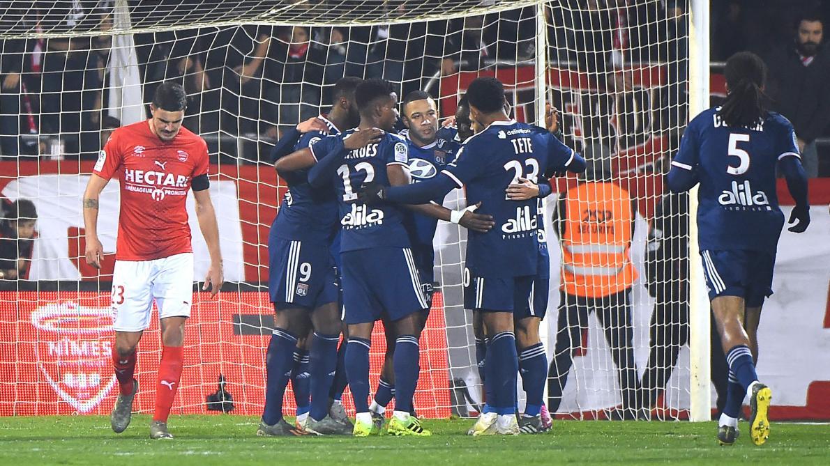 Ligue 1: Lyon renoue avec la victoire sur la pelouse de Nîmes (0-4)