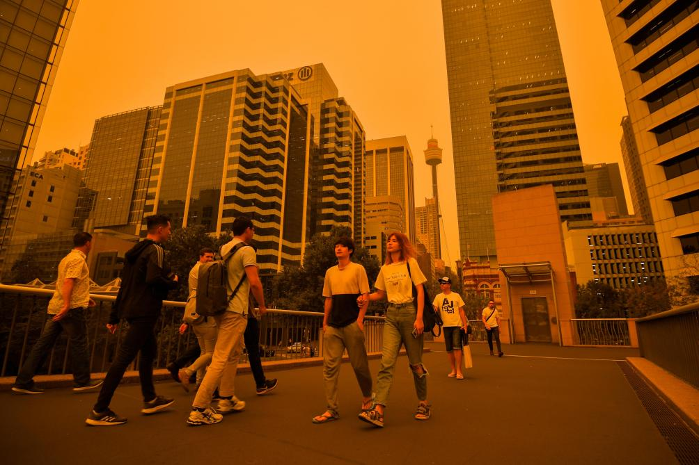 Un «mégafeu» plonge Sydney dans un brouillard orange (photos)