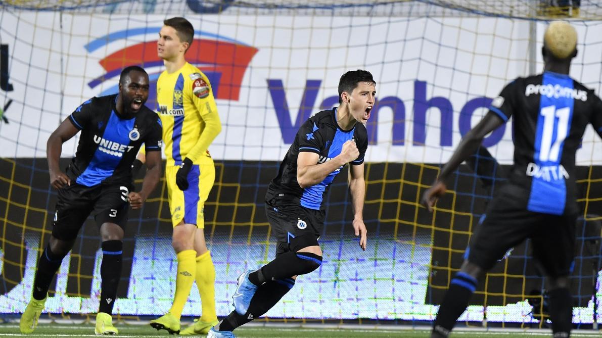 D1A: mené, le FC Bruges émerge en fin de match à Saint-Trond