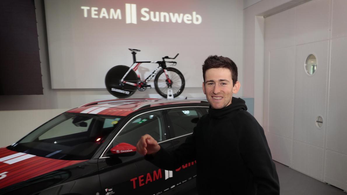 Tiesj Benoot, présenté chez Sunweb, veut continuer à grandir dans sa nouvelle équipe