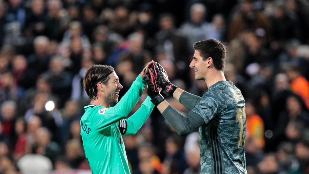 Thibaut Courtois, impliqué dans le but égalisateur du Real Madrid à Valence: «Il faut aider dès que l'on peut»