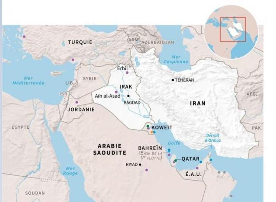 iran carte du monde Moins d'un quart des Américains peuvent situer l'Iran sur la carte