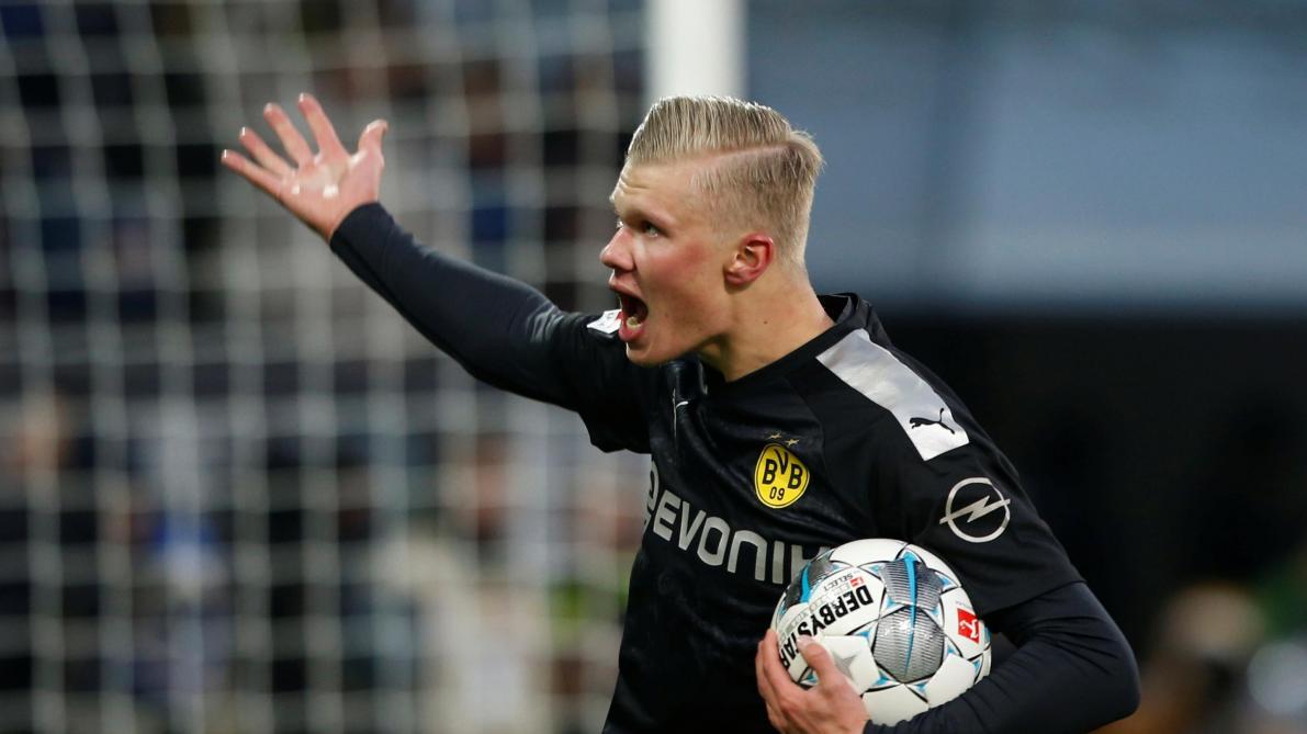 Dortmund gagne à Augsbourg grâce à un doublé de Thorgan Hazard, triplé d'Erling Haland pour ses premières