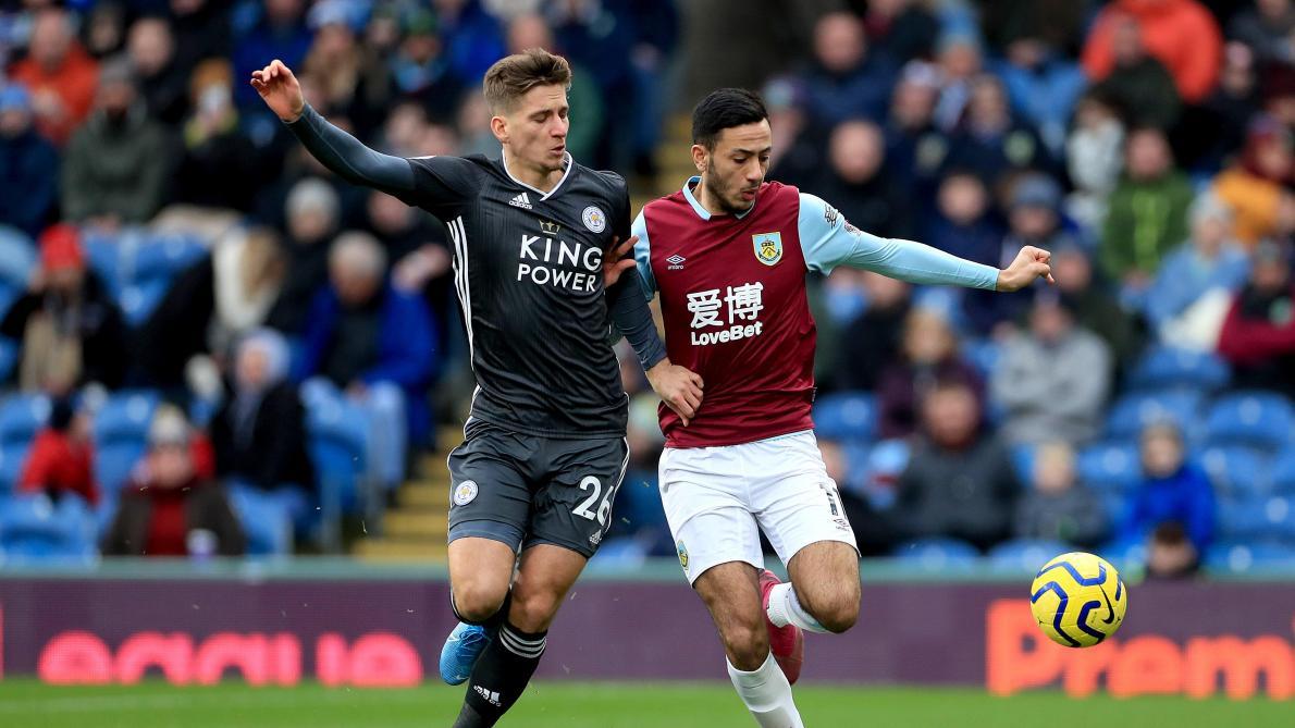 Premier League: Leicester trébuche à Burnley malgré un assist de Dennis Praet (2-1, vidéos)