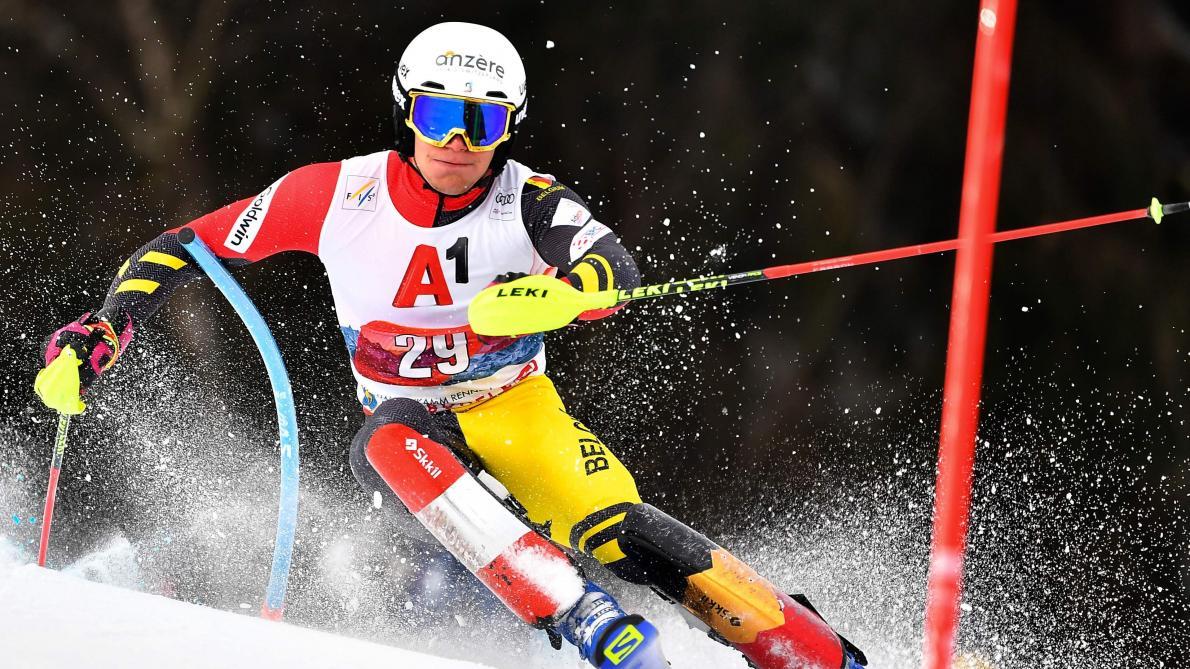 Coupe du monde de ski alpin: pas de deuxième manche pour Marchand, 50e à l'issue de la première, au slalom de