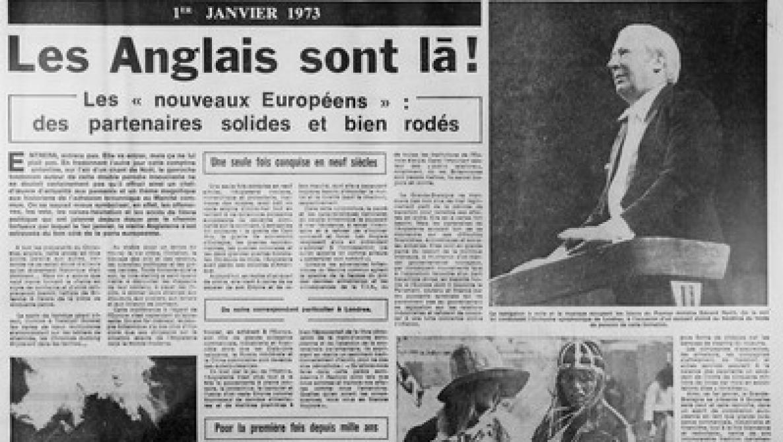Brexit: il y a 47 ans, les Britanniques rejoignaient les Européens sans fanfare