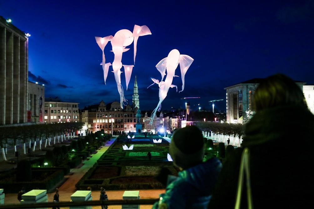 Le festival Bright Brussels va illuminer Bruxelles ce soir: les premières photos