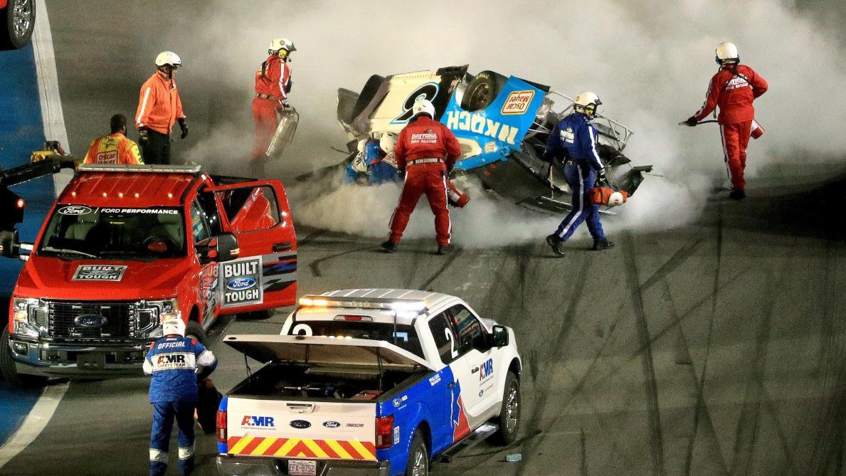 Les images du terrible accident dans le dernier tour du Daytona 500