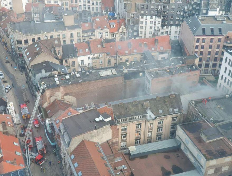Un feu de toiture au Mirano à Saint-Josse-ten-Node