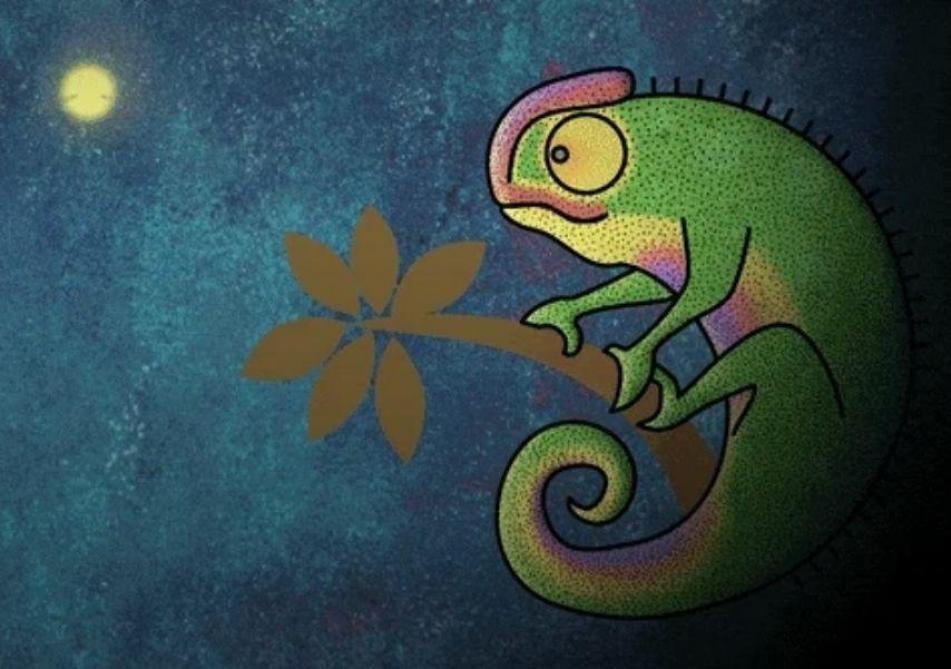 GIFs primés au concours Anima: Liesbeth Eeckman, «Chameleon»