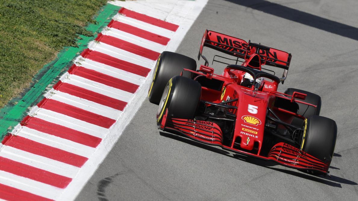 Le meilleur temps pour Vettel, Hamilton à l'arrêt