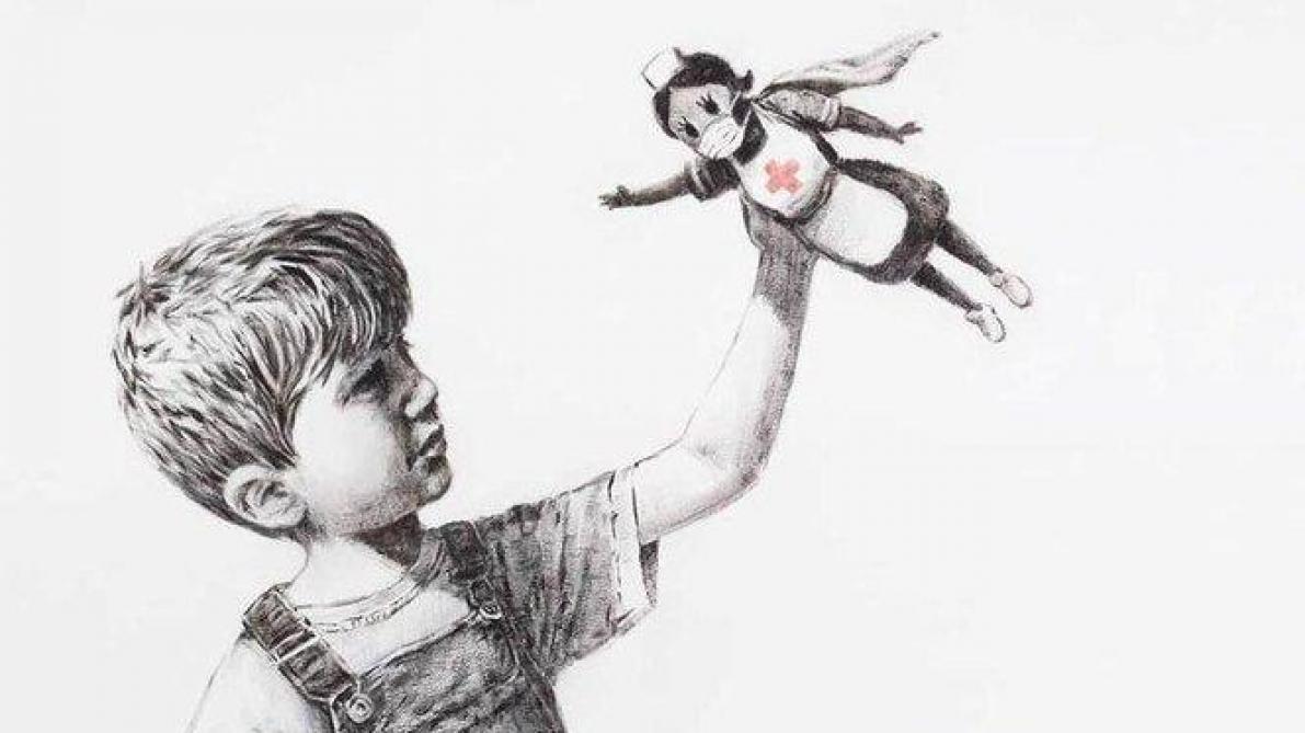 Banksy rend hommage aux soignants britanniques — Coronavirus