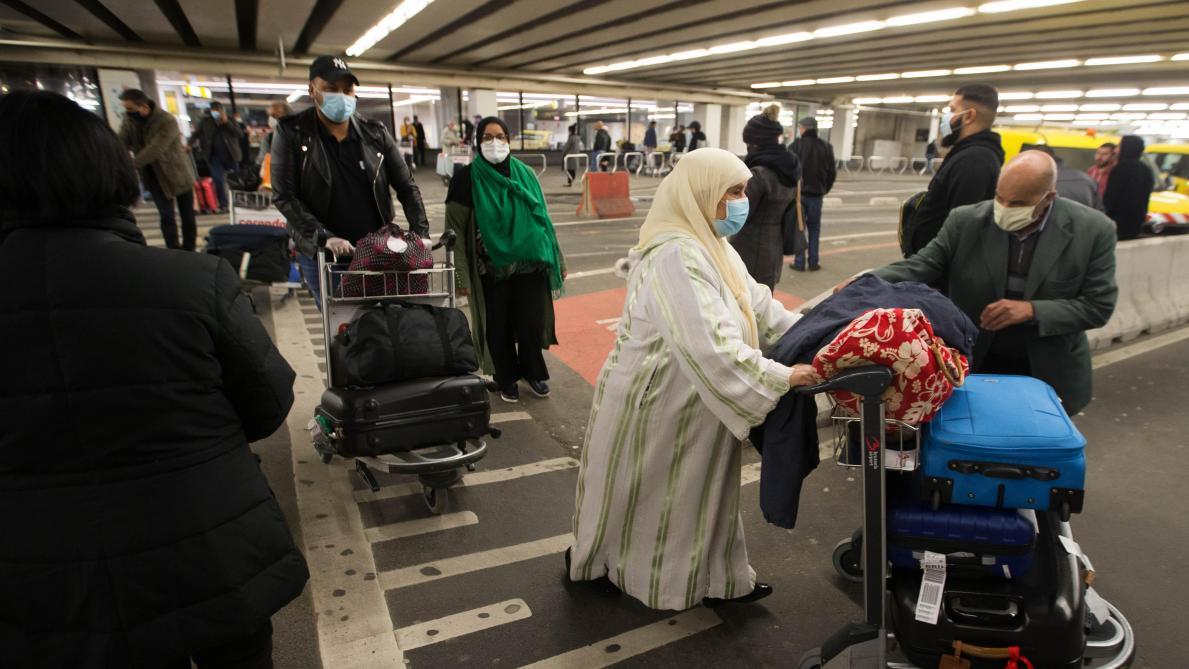 Retour de binationaux belgo-marocains, le 2 mai dernier à Brussels-Airport.