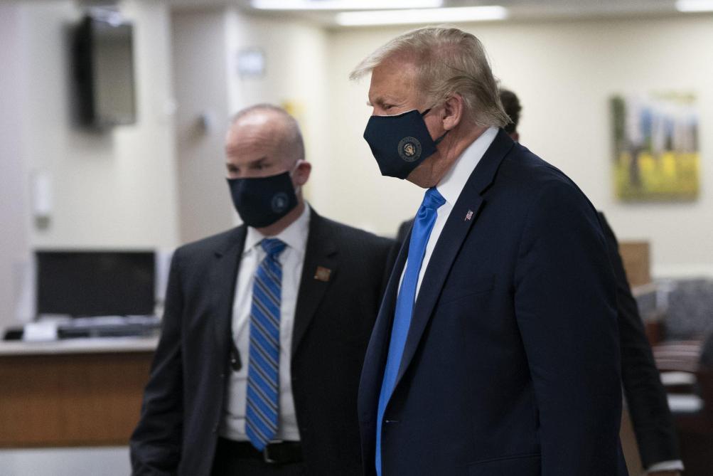 Donald Trump masqué pour la première fois: «Je n'ai jamais été contre les masques»