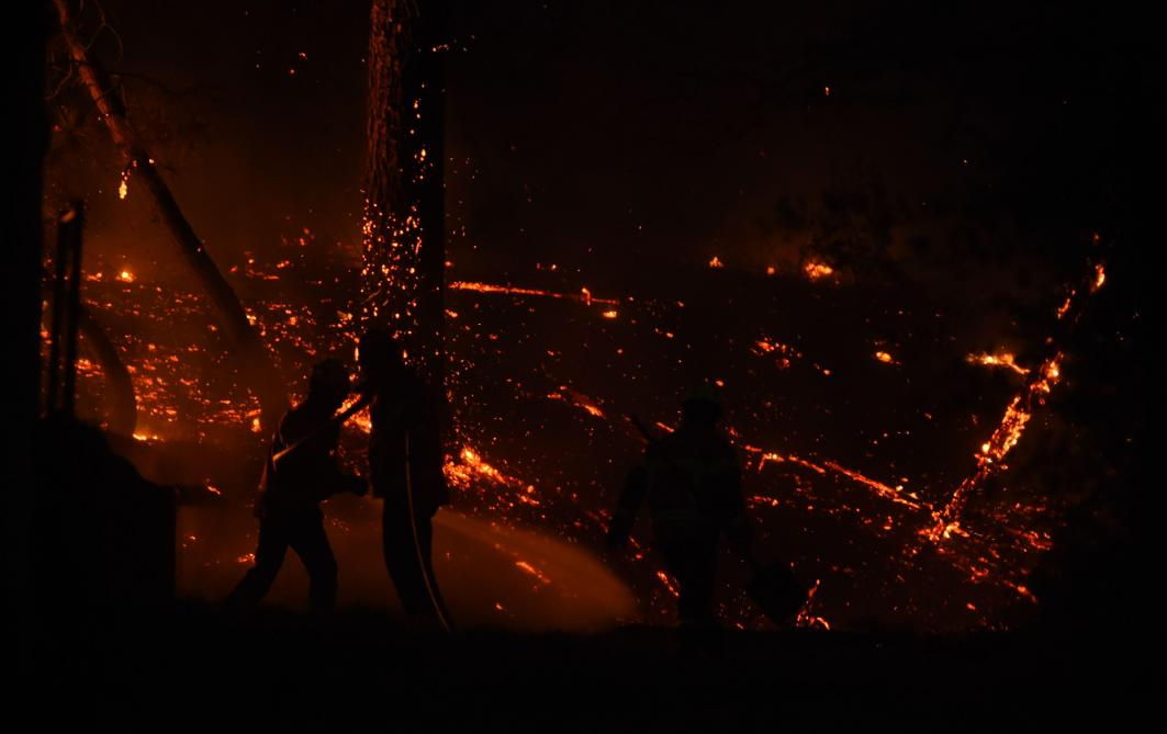 Feu de forêt en cours à Anglet, des habitants évacués — Pyrénées-Atlantiques