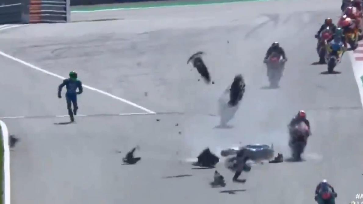 Moto2 : Jorge Martin vainqueur d'une course marquée par un accident