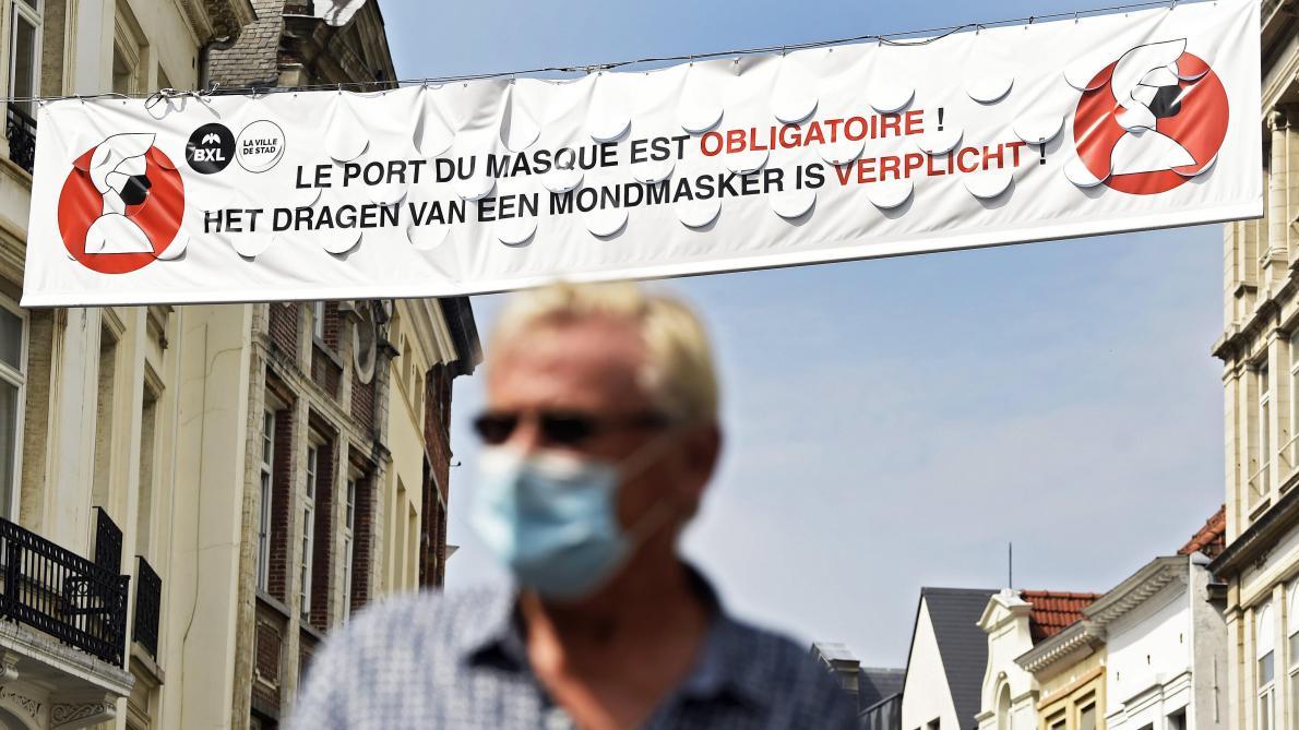Bruxelles: l'obligation générale du port du masque prend fin le 1er octobre