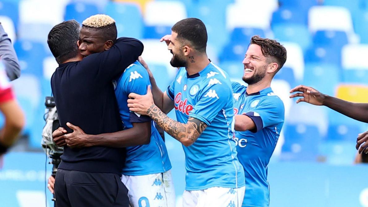 Le premier but de Victor Osimhen avec Naples face à l'Atalanta — Vidéo