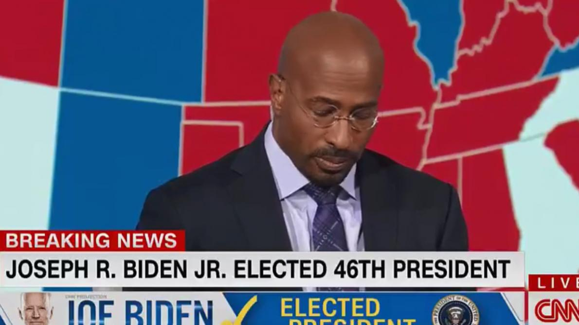 L'émotion d'un commentateur de CNN après la victoire de Biden